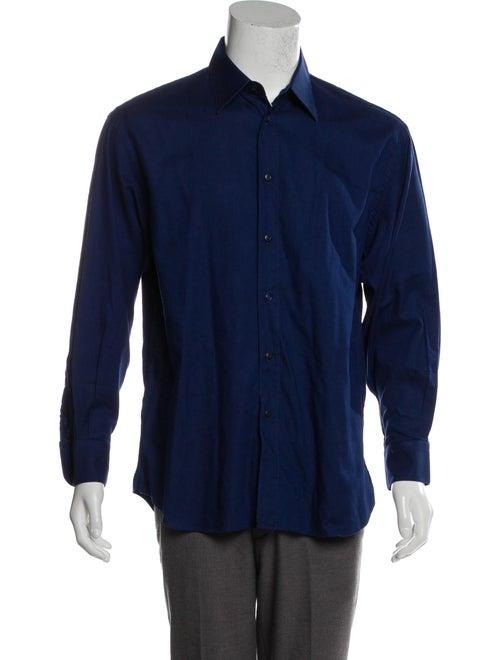 Prada Woven Button-Up Shirt - image 1
