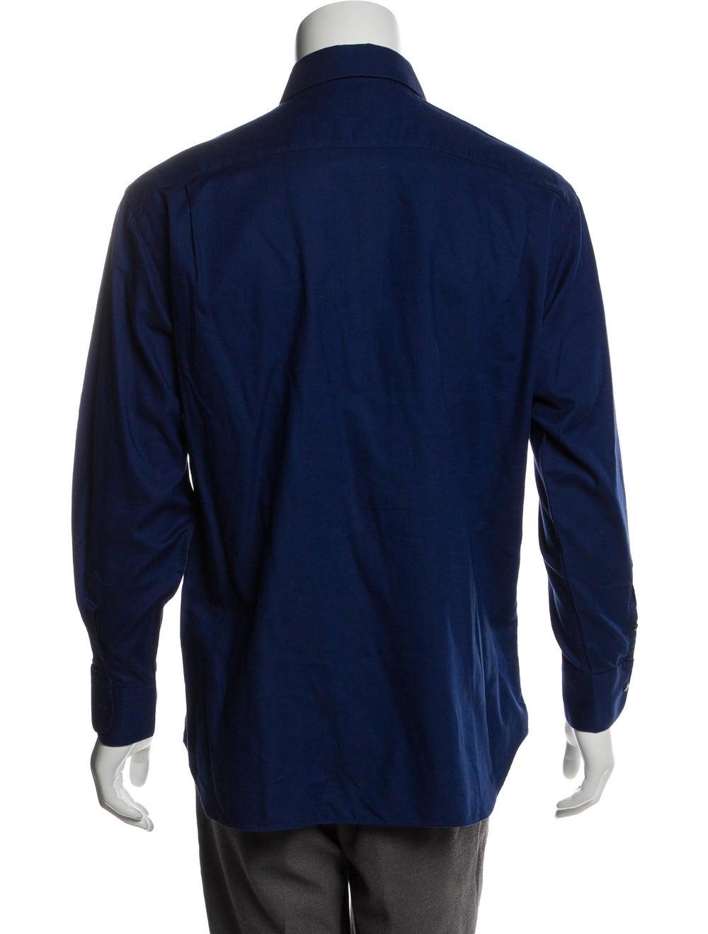 Prada Woven Button-Up Shirt - image 3