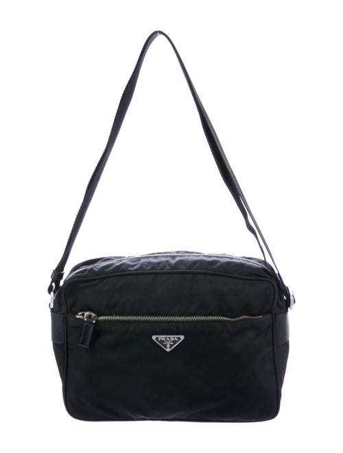 Prada Tessuto Crossbody Bag Black
