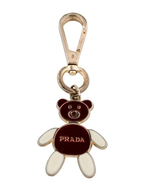 Prada Teddy Bear Metal Keychain Gold
