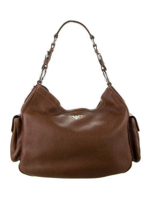 Prada Vitello Daino Hobo Brown