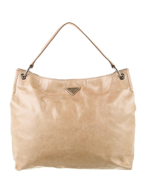 Prada Vitello Shine Hobo silver