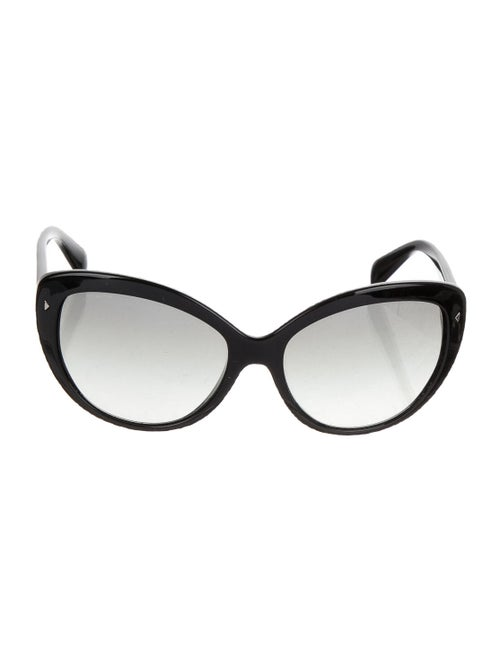 Prada Acetate Cat-Eye Sunglasses Black