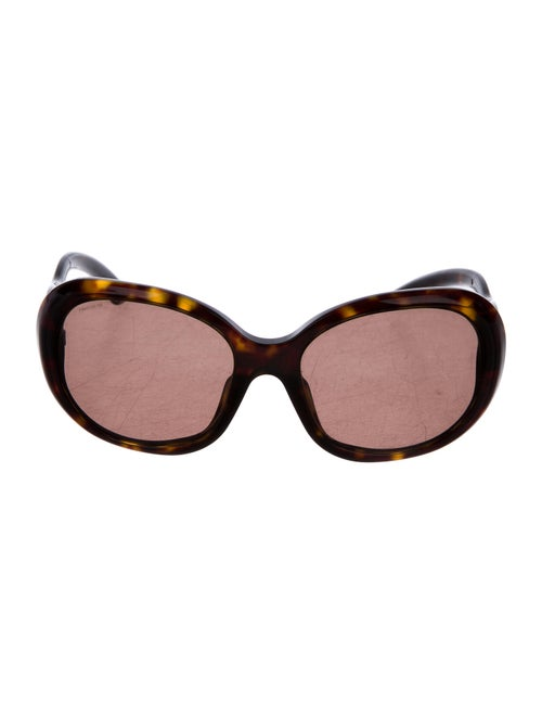Prada Round Tinted Sunglasses Brown