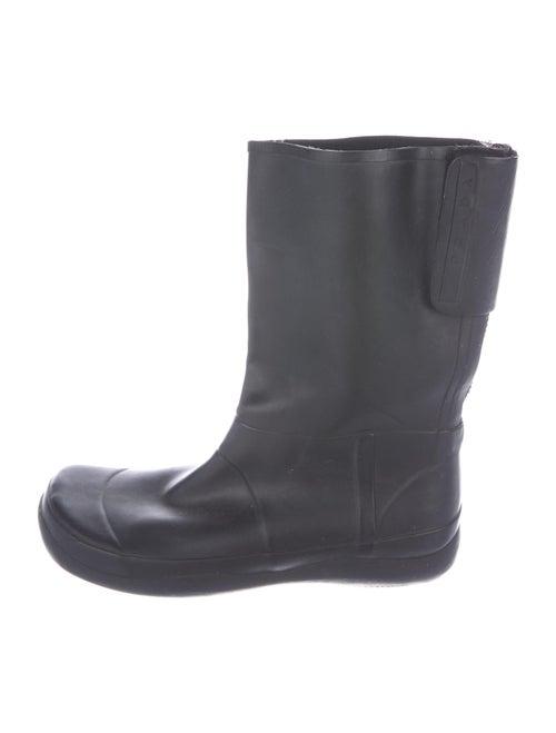 Prada Rubber Rain Boots Black