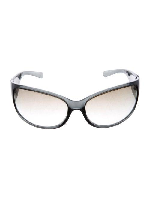Prada Shield Gradient Sunglasses transparent