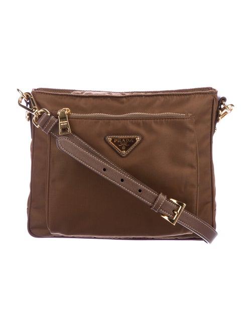 Prada Tessuto Nylon Crossbody Bag gold