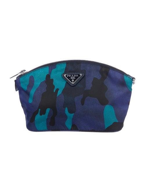 Prada Camouflage Zip Pouch Blue