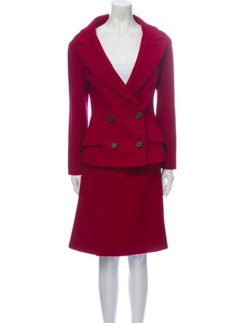 Prada Virgin Wool Skirt Suit Wool