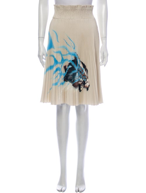 Prada Graphic Print Knee-Length Skirt