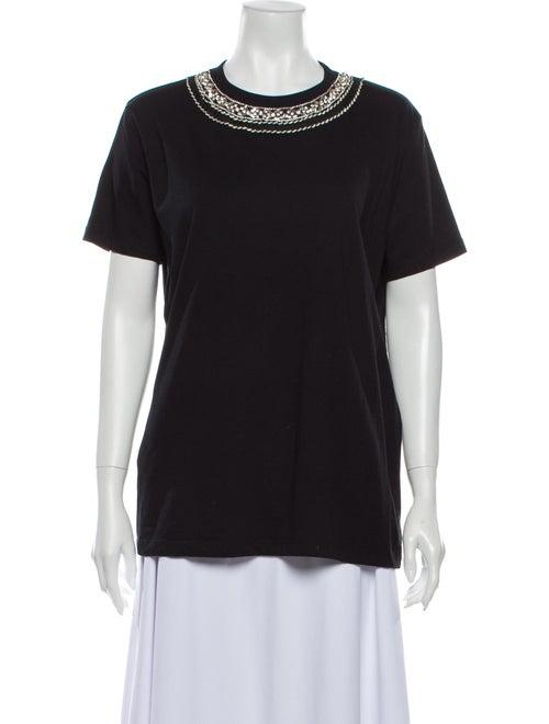 Prada Crew Neck Short Sleeve T-Shirt Black