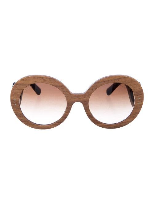 Prada Oversize Tinted Sunglasses Tan