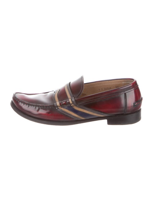Prada Leather Colorblock Pattern Loafers