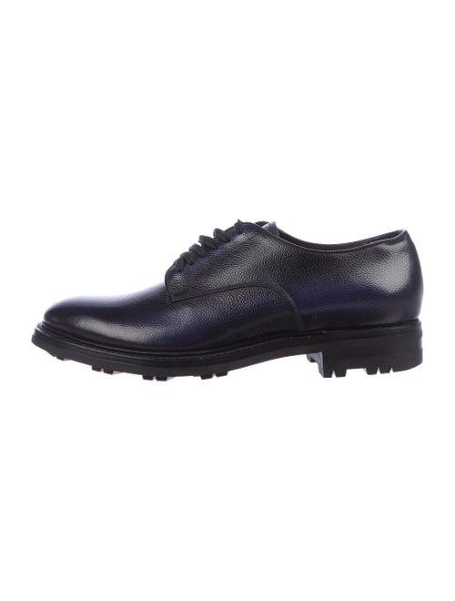 Prada Leather Derby Shoes Blue