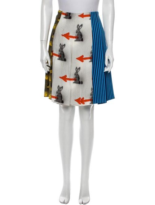 Prada 2015 Knee-Length Skirt White