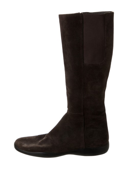 Prada Leather Boots Brown