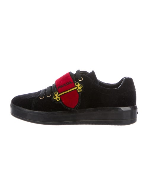Prada Graphic Print Sneakers Black