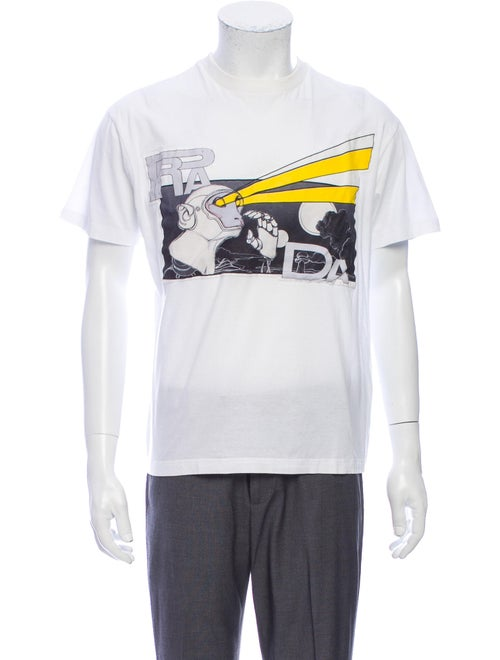 Prada 2017 Graphic Print T-Shirt White