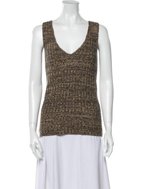 Prada Wool V-Neck Top Wool