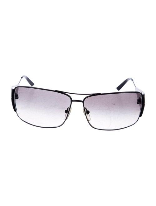Prada Square Gradient Sunglasses black