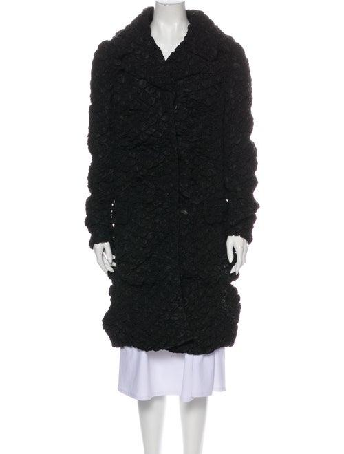 Prada Printed Coat Black