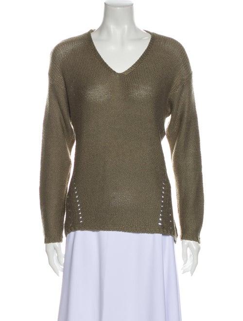 Prada V-Neck Sweater Green