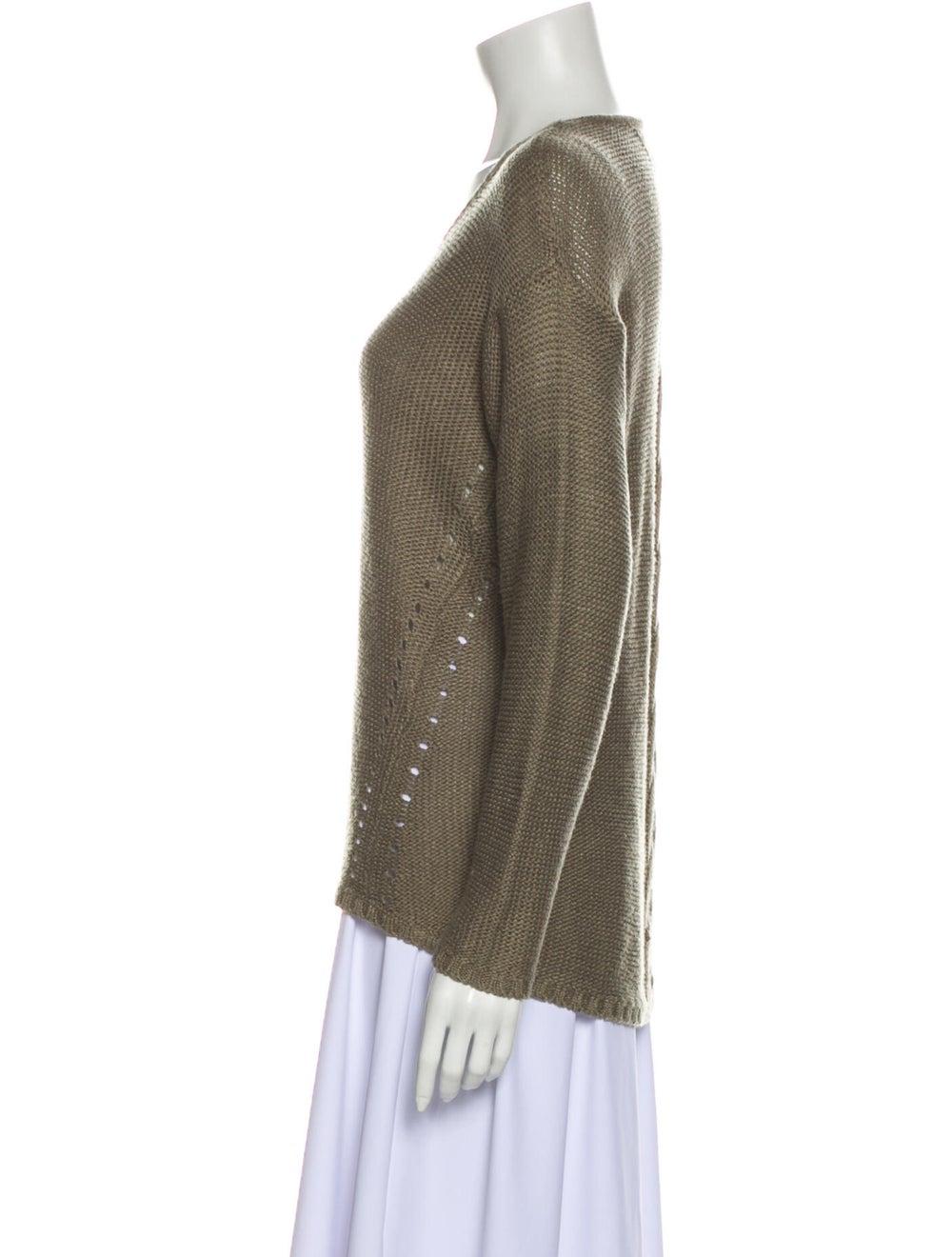 Prada V-Neck Sweater Green - image 2