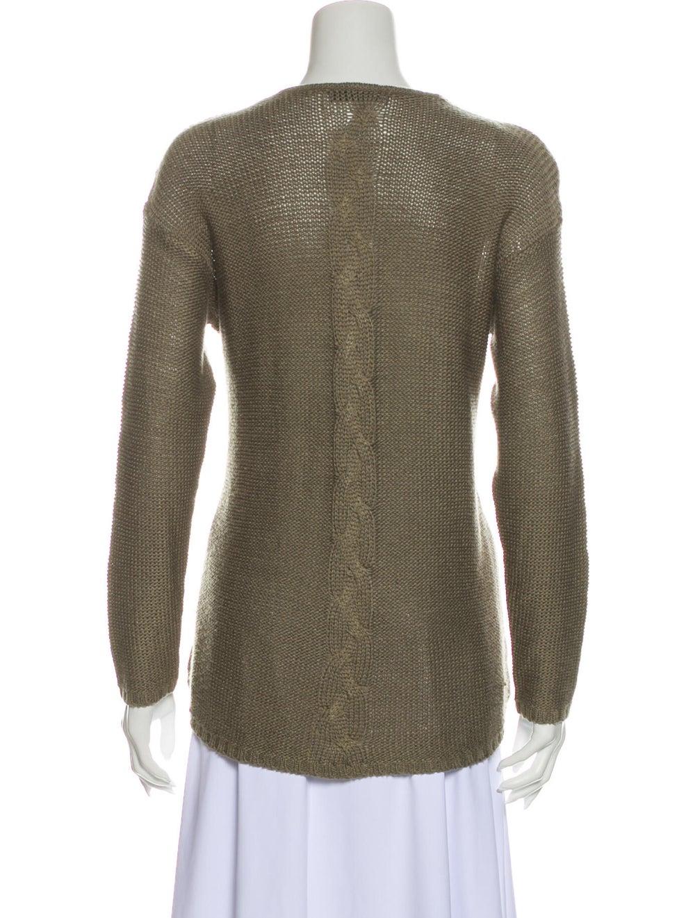Prada V-Neck Sweater Green - image 3