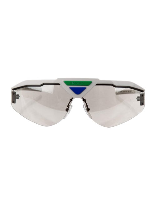 Prada Tinted Shield Sunglasses White