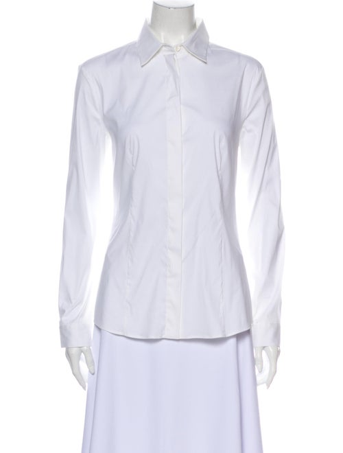 Prada Long Sleeve Button-Up Top w/ Tags White