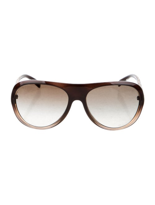 Prada Acetate Aviator Sunglasses Brown