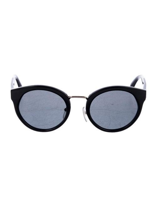 Prada Round Tinted Sunglasses Black