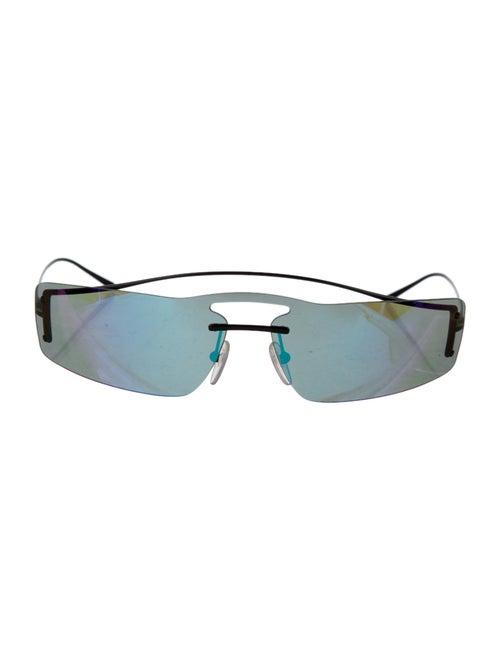 Prada Tinted Shield Sunglasses Black