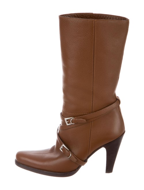 Prada Leather Moto Boots