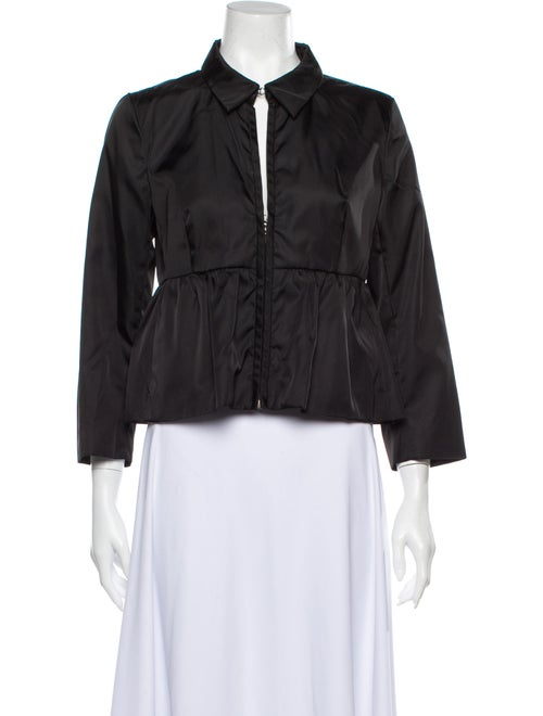 Prada Three-Quarter Sleeve Blouse Black
