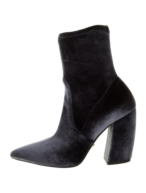 Prada Suede Sock Boots Grey