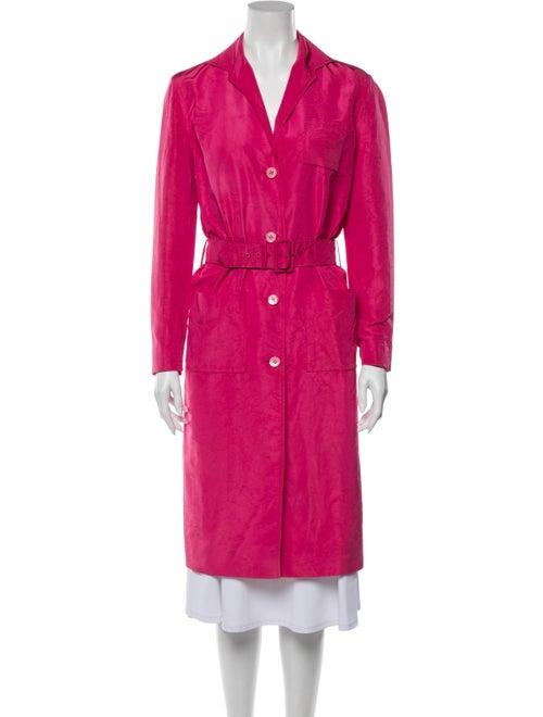 Prada Silk Trench Coat Pink