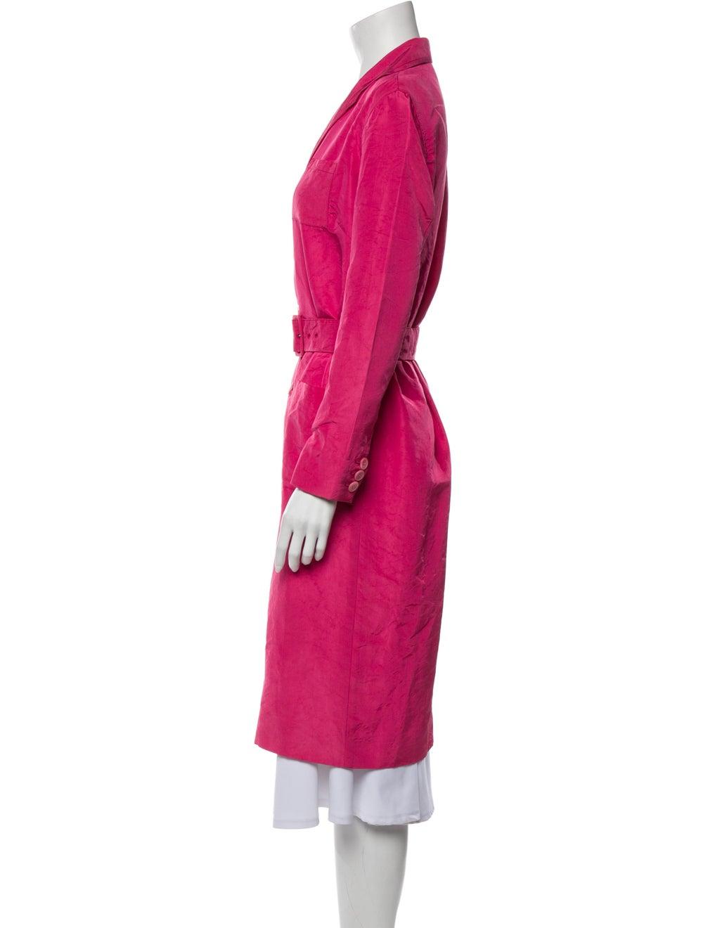 Prada Silk Trench Coat Pink - image 2