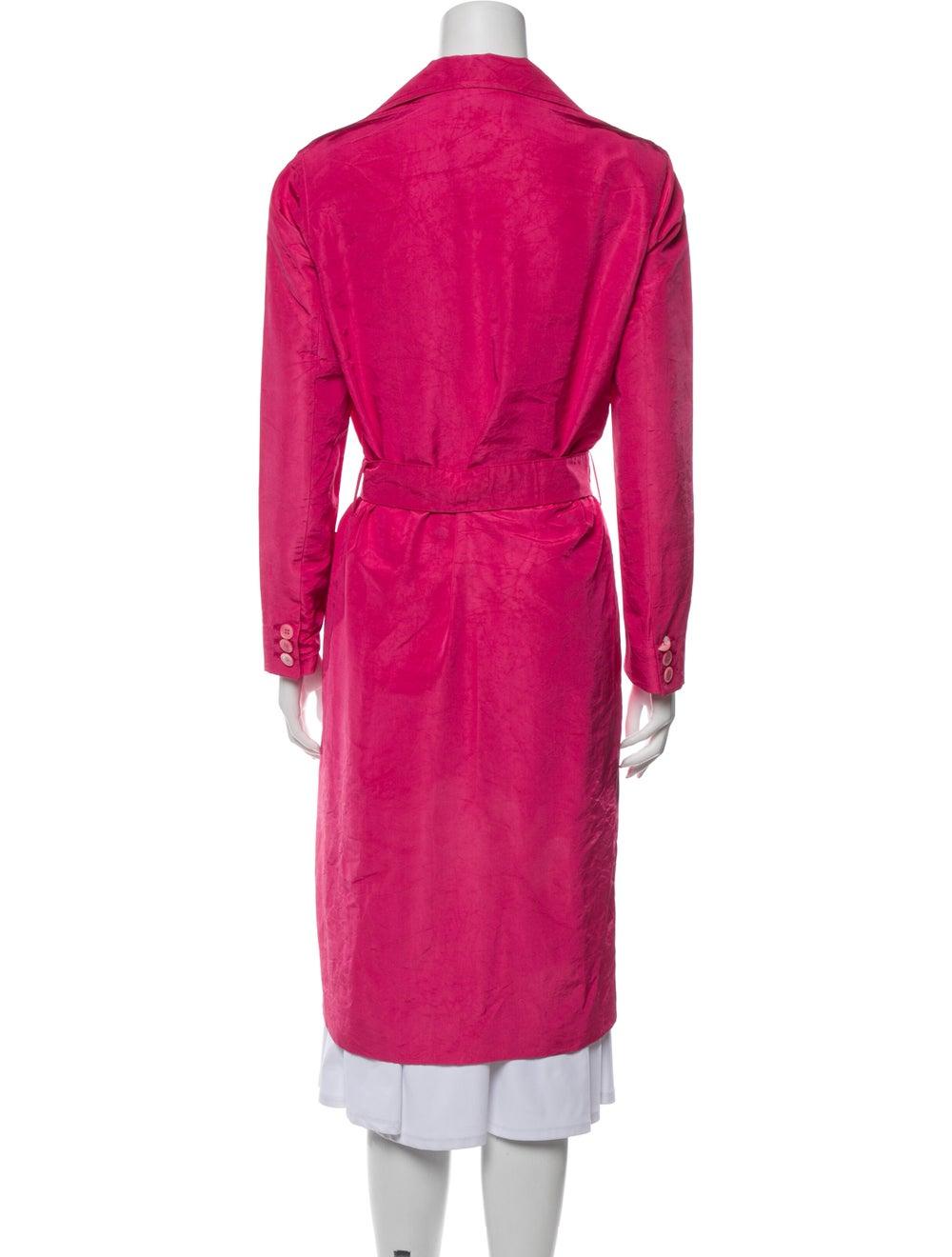 Prada Silk Trench Coat Pink - image 3