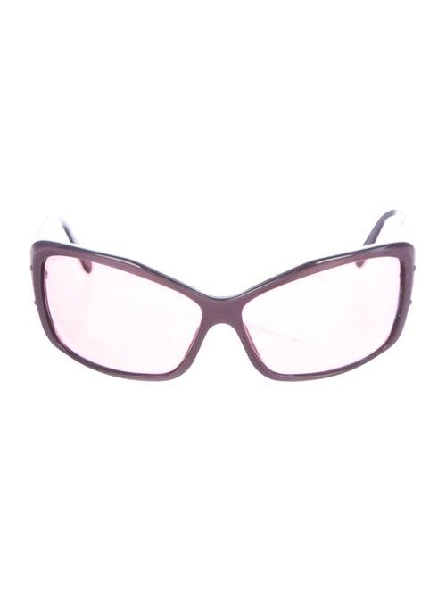 Prada Square Tinted Sunglasses Purple