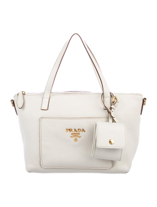 Prada Vitello Daino Crossbody Bag gold