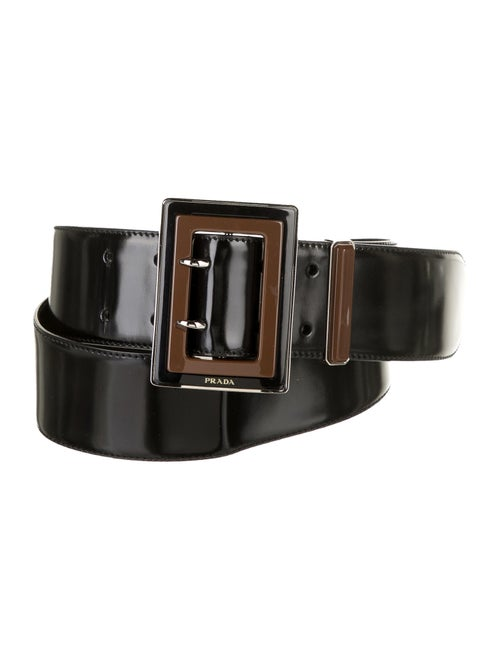 Prada Leather Waist Belt Black