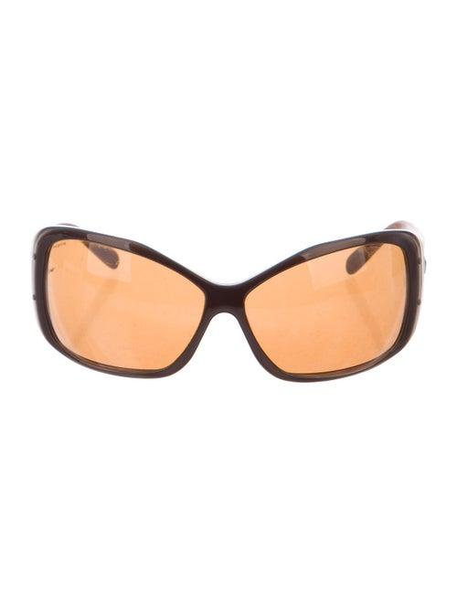 Prada Tinted Square Sunglasses Brown