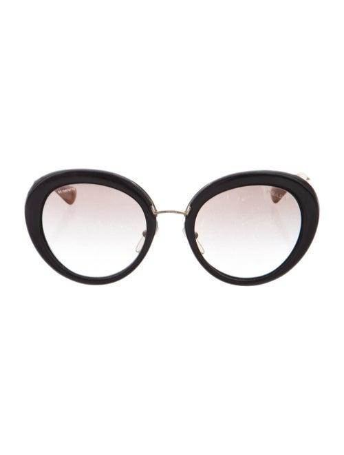 Prada Round Metal Sunglasses Gold