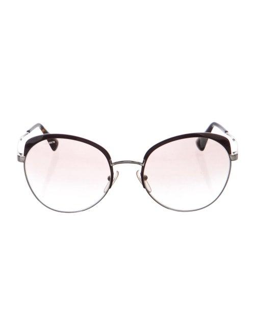 Prada Tinted Oversize Sunglasses Silver
