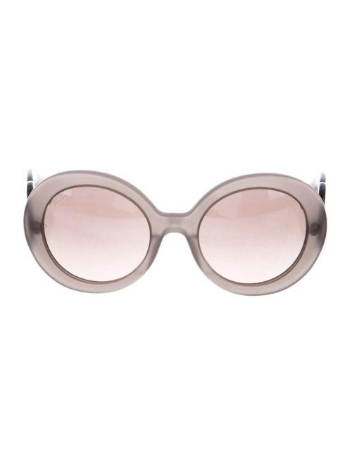 Prada Tinted Round Sunglasses Grey