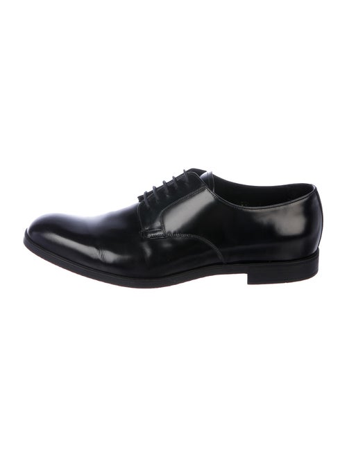 Prada Leather Derby Shoes Black