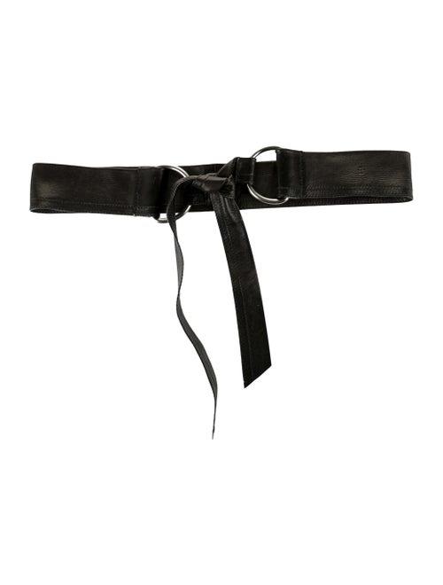 Prada Leather Wrap Belt Black