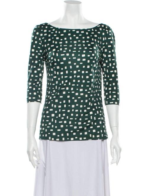 Prada 2013 Silk Blouse Green - image 1
