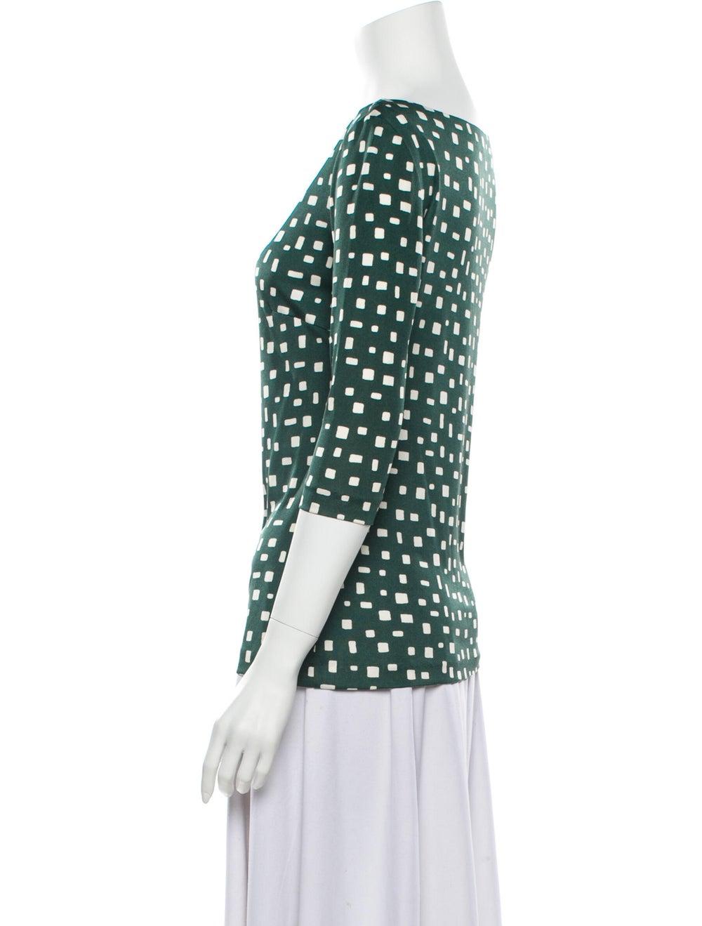 Prada 2013 Silk Blouse Green - image 2